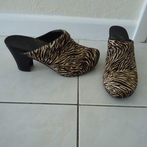 DANSKO Zebra Pony Hair Rae Clogs Mules EUR 40
